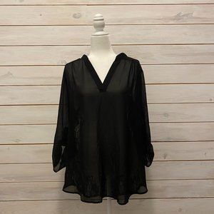 Rue 21 Sheer & Lace Blouse
